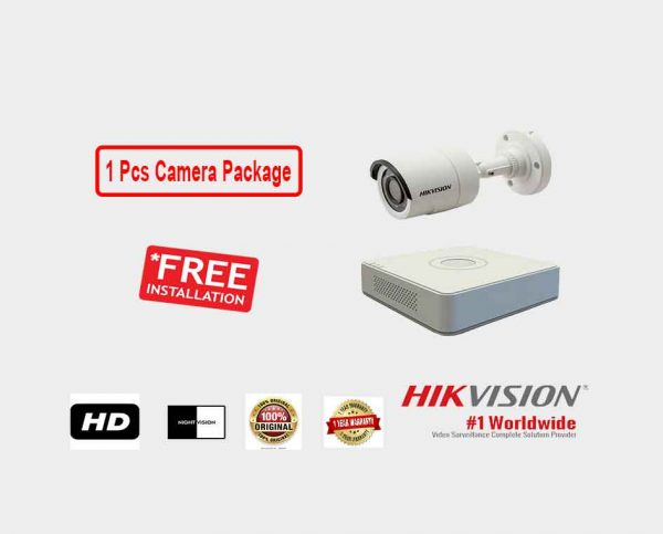 Hikvision (1 Pcs CC Camera Package )