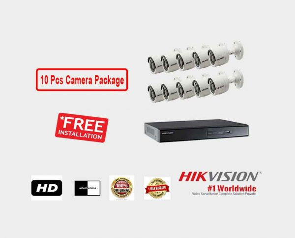 Hikvision (10 Pcs CC Camera Package )