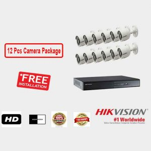 Hikvision (12 Pcs CC Camera Package )