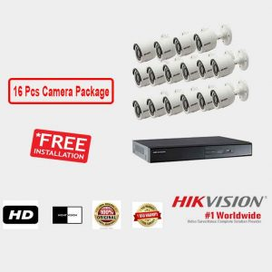 Hikvision (16 Pcs CC Camera Package )