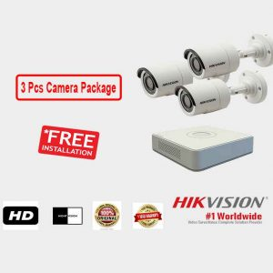 Hikvision (3 Pcs CC Camera Package )