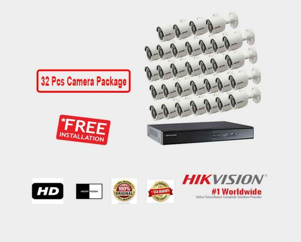 Hikvision (32 Pcs CC Camera Package )