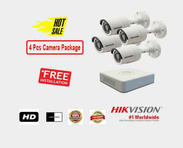 Hikvision (4 Pcs CC Camera Package )