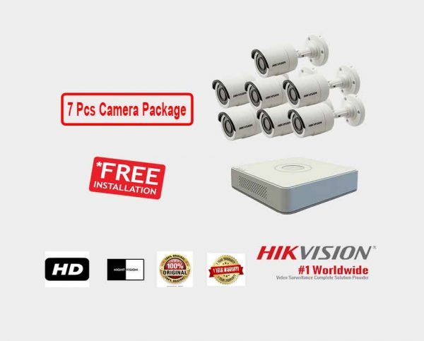 Hikvision (7 Pcs CC Camera Package )