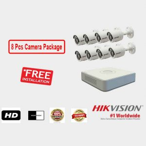 Hikvision (8 Pcs CC Camera Package )