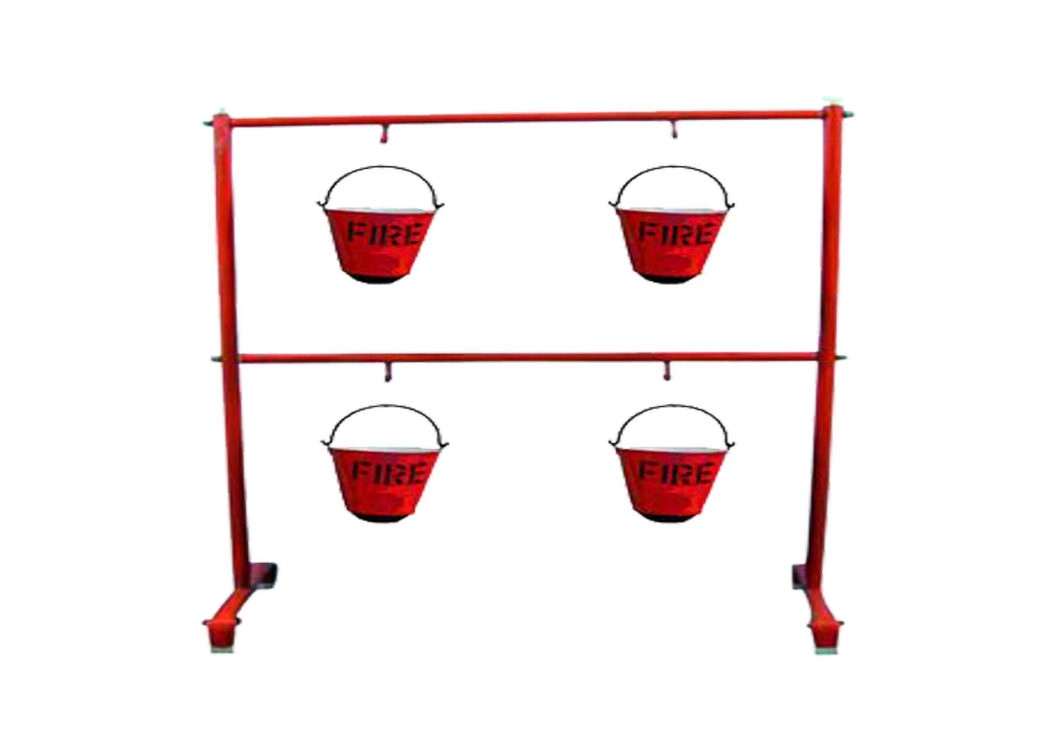 Fire Bucket Stand ( 4 Pcs Fire Bucket Holder Stand)
