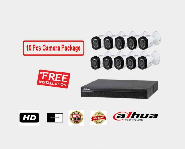 Dahua (10 Pcs CC Camera Package )