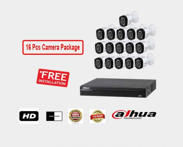 Dahua (16 Pcs CC Camera Package )