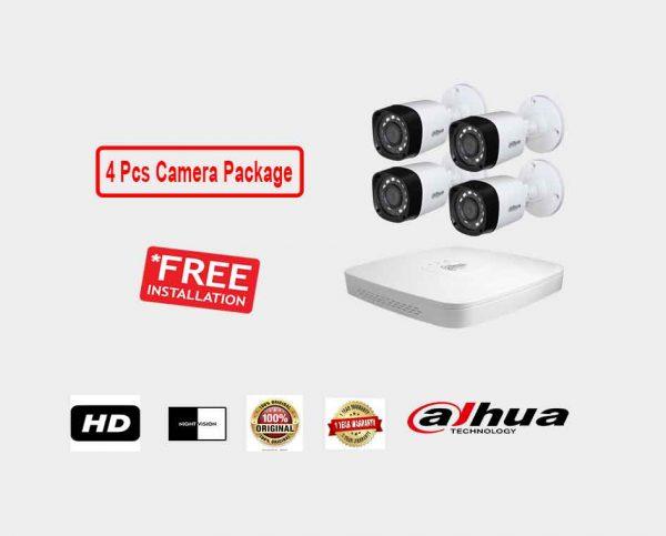Dahua (4 Pcs CC Camera Package )
