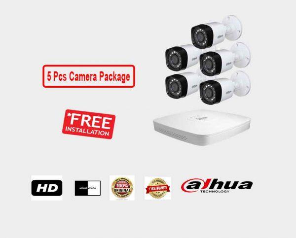 Dahua (5 Pcs CC Camera Package )