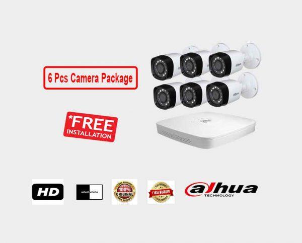 Dahua (6 Pcs CC Camera Package )