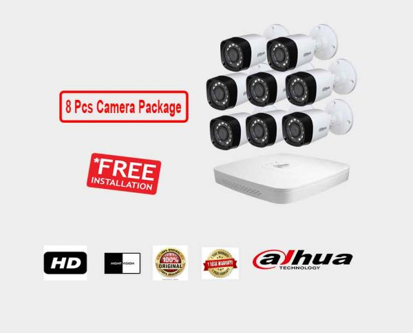 Dahua (8 Pcs CC Camera Package )